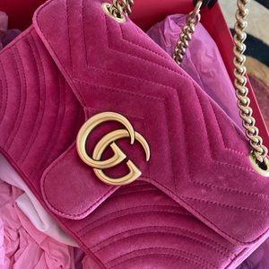 Pink Velvet Gucci Marmont
